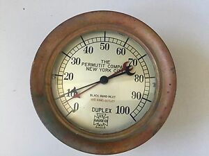 Vintage Gauge By Us Gauge Co Ny Duplex