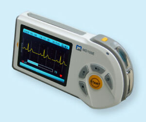 Md100e Handheld Ecg ekg Monitor w Adult Reusable Suction Cup Electrodes