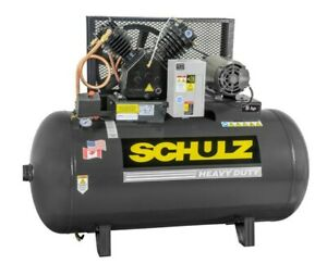 Schulz Air Compressor 5hp 3 Phase 80 Gallon Tank 20cfm 175 Psi