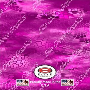 Hex 3 Pink Camo Decal Wrap Vinyl 52 x15 Truck Print Real Camouflage