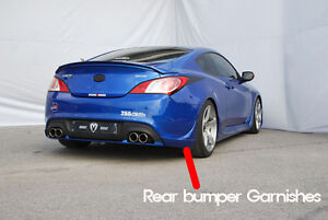 M S Rear Bumper Garnishes For Genesis Coupe 2009 2013