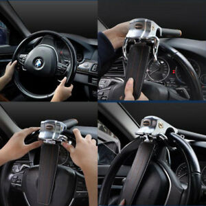 Car Heavy Duty Top Mount Steering Wheel Security Lock Anti theft Safety Devices