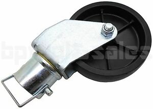 1200lbs 6 Trailer Swirl Jack Caster Wheel W Safety Pin Boat Hitch Replacement