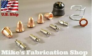 13pc Consumable Kit For Eastwood Versa Cut 20 Plasma Cutter With S25k Torch