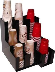 Coffee Soda Cup Lid Holder Dispenser And Organize Caddy Coffee Counter Display