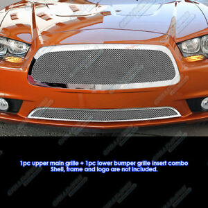 Custom Fits 2011 2013 Dodge Charger Stainless Steel Mesh Grill Combo
