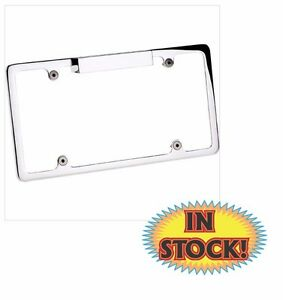 Plain License Plate Frame With Light Polished Billet Specialties 55220