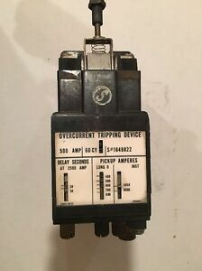 Westinghouse 500 Amp Overcurrent Tripping Device 60 Cycle Db Breaker S 1649822