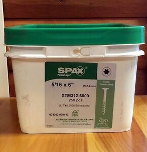 Spax Log Timber Lag Screws bolts 6 Xtm Pancake Head 250 Per Bucket