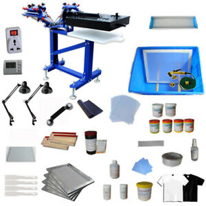 3 Color Screen Printing Machine With Diy Materials Kit Micro adjust Equipment