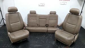 2003 2004 Toyota Tundra Front Bucket Rear Bench Leather Seats Stained Worn