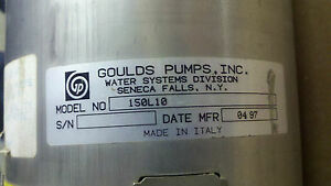 New 150l10 Goulds Pumps Itt Industries 6 Submersible Well Franklin Electric