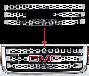 For 11 14 Gmc Sierra 2500 3500 Chrome Snap On Grille Overlay Grill Cover Inserts