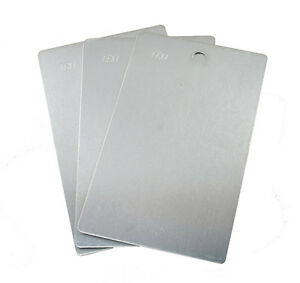 Blank Aluminum Panels For Paint And Powder Coat 3 X 5 Inch