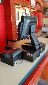 New Restaurant Bar Retail Pos System Complete With Software W 2 Yr Warranty