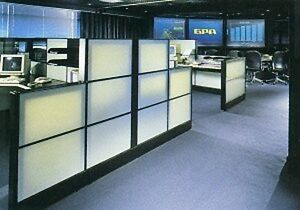 Herman Miller Ethospace 42 wx 16 h Wall White Glass Transluant Tile For Cubicles