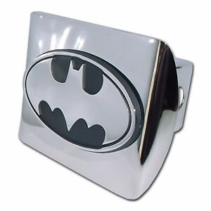 Batman oval All Metal Shiny Chrome Hitch Cover