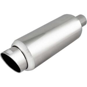 Dc Sports Automotive Round Stainless Muffler Slant Cut Tip Ex 5016