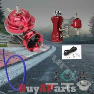 Red Adjustable Type Rs Blow Off Valve Kit W Manual Boost Controller 1 30psi