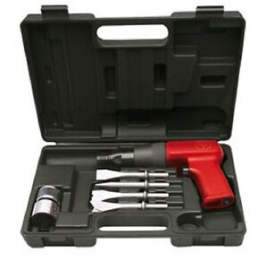 Chicago Pneumatic 7110k Heavy Duty Air Hammer Kit With Four Chisels In Case