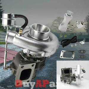 T3 T4 Upgrade Racing V Band Turbo Charger Silver Manual 30 Psi Boost Controller