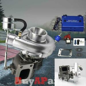 T04e T3 T4 63ar V Band Turbo Turbocharger Dual Stage Boost Controller Blue