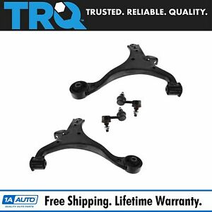4 Piece Suspension Kit Front Lower Control Arms Sway Bar Links For Honda Civic