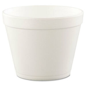 Hinged lid Food Containers Foam 24oz White 25 bag 20 Bags carton