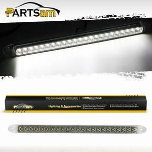 Submersible White 17 23led Clearance Light Bar Backup Reverse Fog Truck Trailer