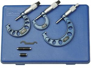 Fowler 52 215 003 1 Outside Inch Micrometer Set 0 3
