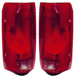New Pair Of Tail Lights Left Right Fits 1992 1996 Bronco F150 Pickup