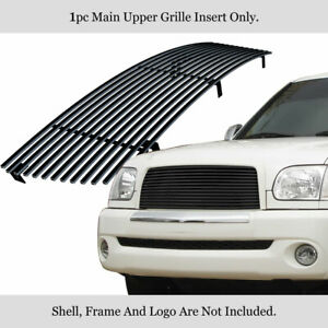 Fits 2003 2006 Toyota Tundra Main Upper Stainless Black Billet Grille Insert