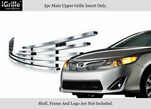 Fits 2012 2014 Toyota Camry Stainless Steel Main Upper Billet Grille