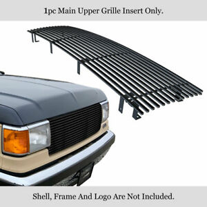 Fits 1987 1991 Ford Bronco f 150 f250 f350 Stainless Black Billet Grille Insert