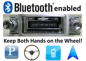 Bluetooth Enabled 1958 Impala Bel Air 300 Watt Am Fm Stereo Radio Ipod Usb
