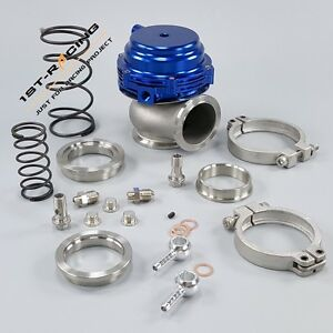 Turbo Blue 44mm Wastegate V band External Stainless Steel Spring 1st racingau