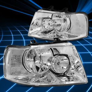 For 03 06 Ford Expedition Oe Style Chrome Clear Corner Headlights Replacement