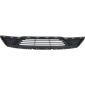Bumper Grille For 2013 2016 Ford Taurus Center Textured Dark Gray Plastic Capa