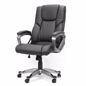 Pu Leather Boss High Back Office Home Chair Executive Task Luxruy Computer Desk