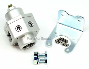 Prp 3009 Billet Fuel Pressure Regulator Carb 2 Port 10an 8an Alcohol Made In Usa