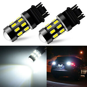 Jdm Astar 2x 48 Smd 3157 3156 White 4014 Led Backup Bulbs Back Up Reverse Lights
