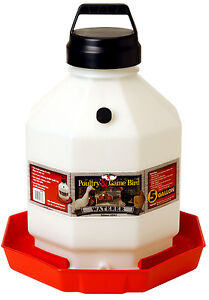 2 Pack Miller Little Giant 5 Gallon Plastic Usa Poultry Chicken Waterer Ppf5