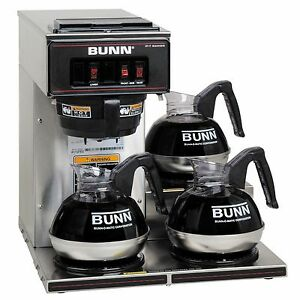 Bunn Vp17 3 Commercial Pourover Brewer Coffee Pot W 3 Warmers