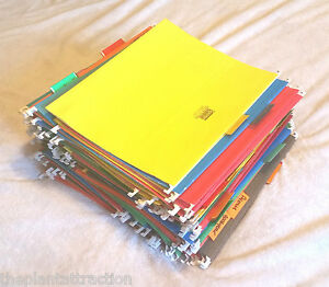 141 Hanging File Folders Office Letter Standard 8 5 X 11 Tab Assorted Colors