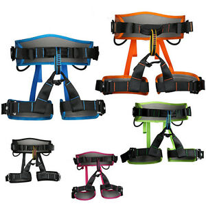 Professional Rock Climbing Mountaineering Half Body Harness Safety Rescue Belt
