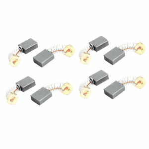 8 Pcs Replacement Electric Motor Carbon Brushes 17mm X 13mm X 6mm For Motors