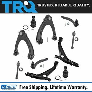Trq 10 Pc Front Control Arm Ball Joint Tie Rod End Suspension Kit For Civic Si