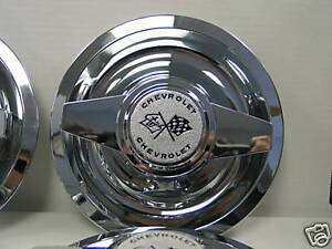 Gm Chevy Rally Wheel Spinner Caps 62 63 Nova Wire Wheel