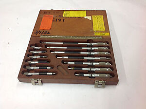 2 12 Brown Sharpe 270 Tubular Inside Micrometer W box All W etchings Lot 1