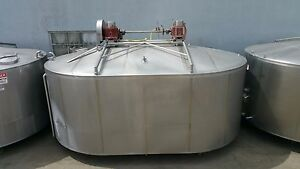Damrow 5000 Gallon Double o Cheese Vat Stainless Steel Jacketed Tank W Mixers